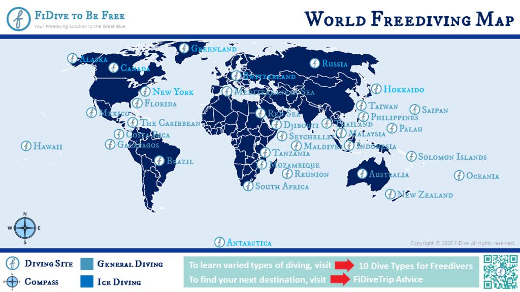 freediving destinations world map
