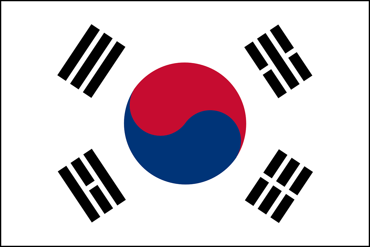 south, korea, flag